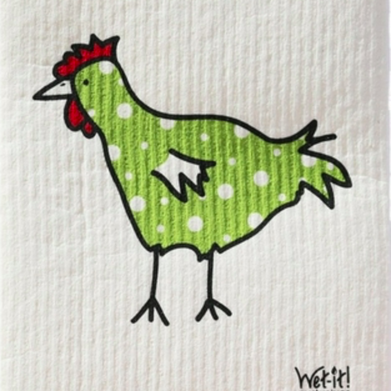WetIt! Swedish Treasures Swedish Wet Cloth Green Chicken