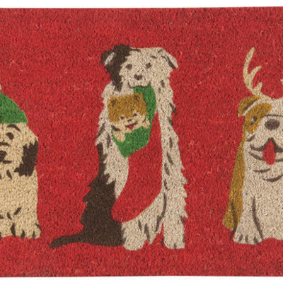 Danica/Now Designs Doormat Holiday Pups