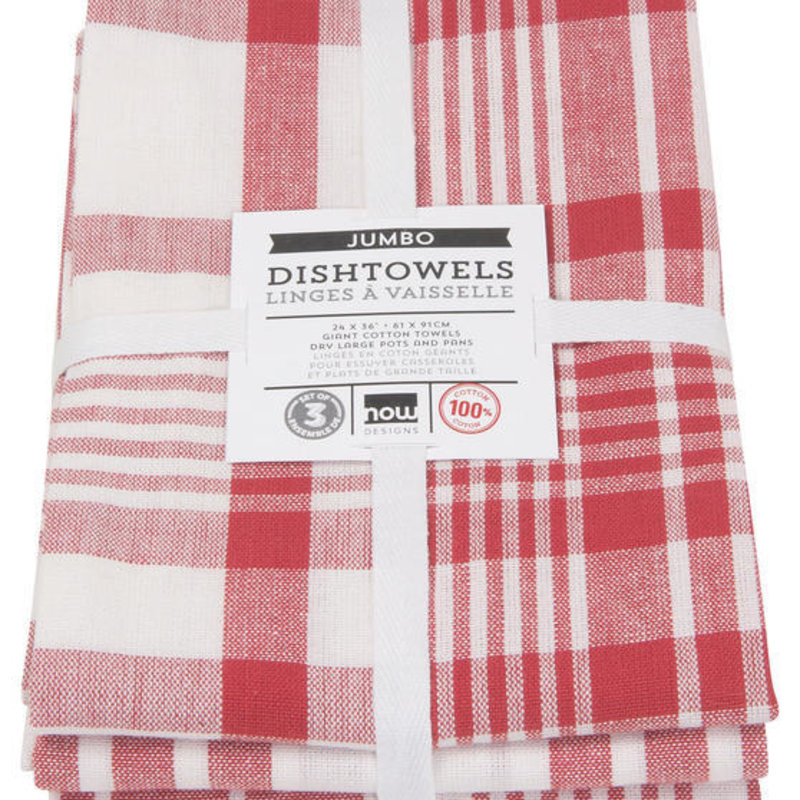 Danica/Now Designs Jumbo Towels - Red set of 3