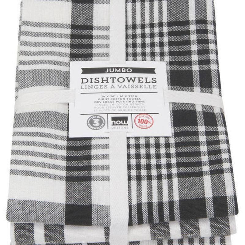Danica/Now Designs Jumbo Towels - Black set of 3