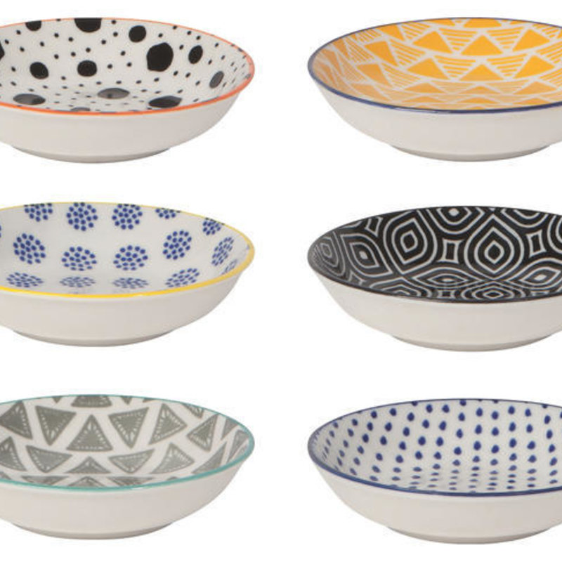Danica/Now Designs Bits & Dots Pinch Bowls Set of 6 - Asst Colours