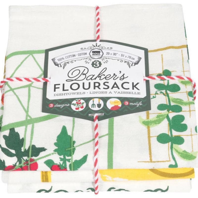 Danica/Now Designs Floursack - Get Growing, set of 3