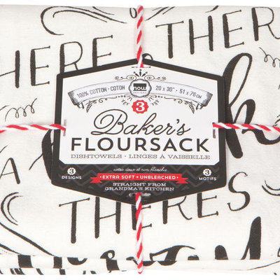 Danica/Now Designs Floursack - Homemade Happiness, set of 3