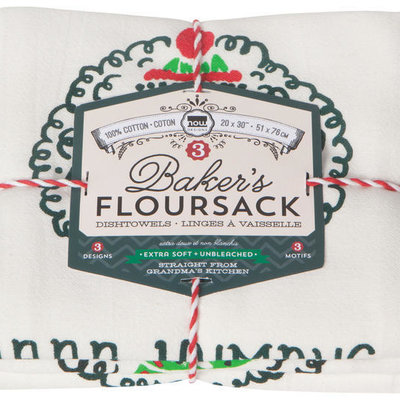 Danica/Now Designs Floursack - Baaa Humbug, set of 3