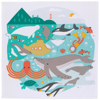 Danica/Now Designs Tea Towel - Designer In The Deep