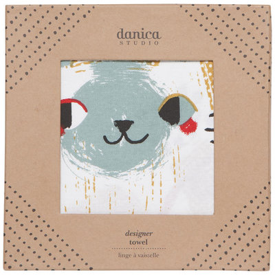 Danica/Now Designs Tea Towel - Designer Meow Meow