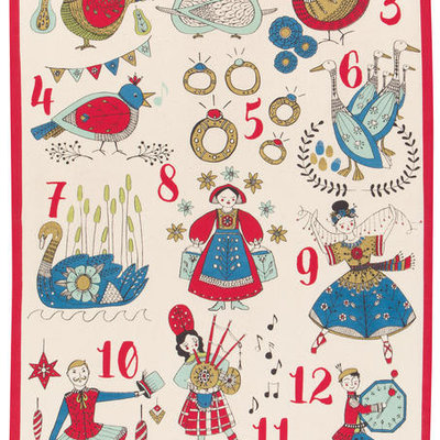 Danica/Now Designs Tea Towel - 12 Days of Christmas
