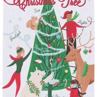 Danica/Now Designs Tea Towel - Christmas Tree Decorating