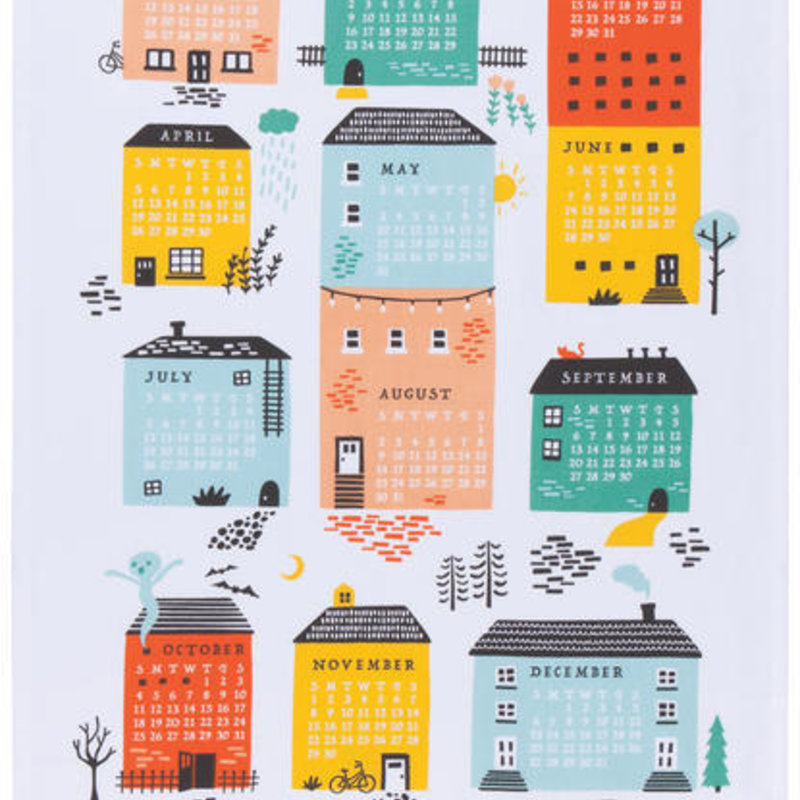 Danica/Now Designs Tea Towel - Neighborhood Calendar 2020