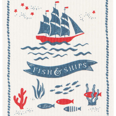 Danica/Now Designs Dishcloth Swedish Fish and Ships