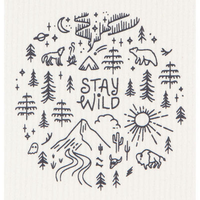 Danica/Now Designs Dishcloth Swedish Stay Wild
