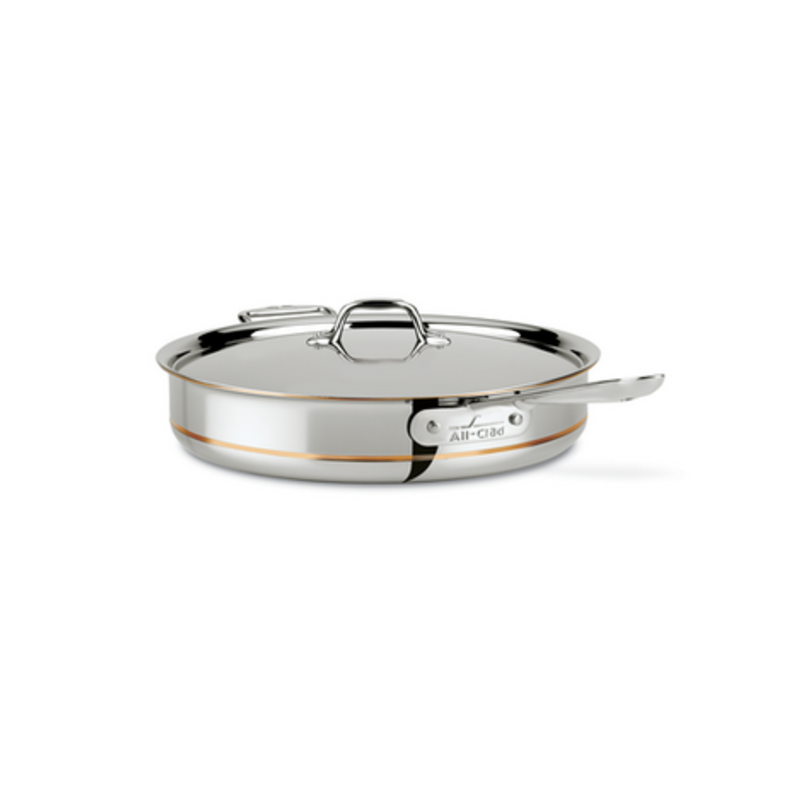All-Clad All-Clad 6-Qt Copper Core Sauté Pan with Lid