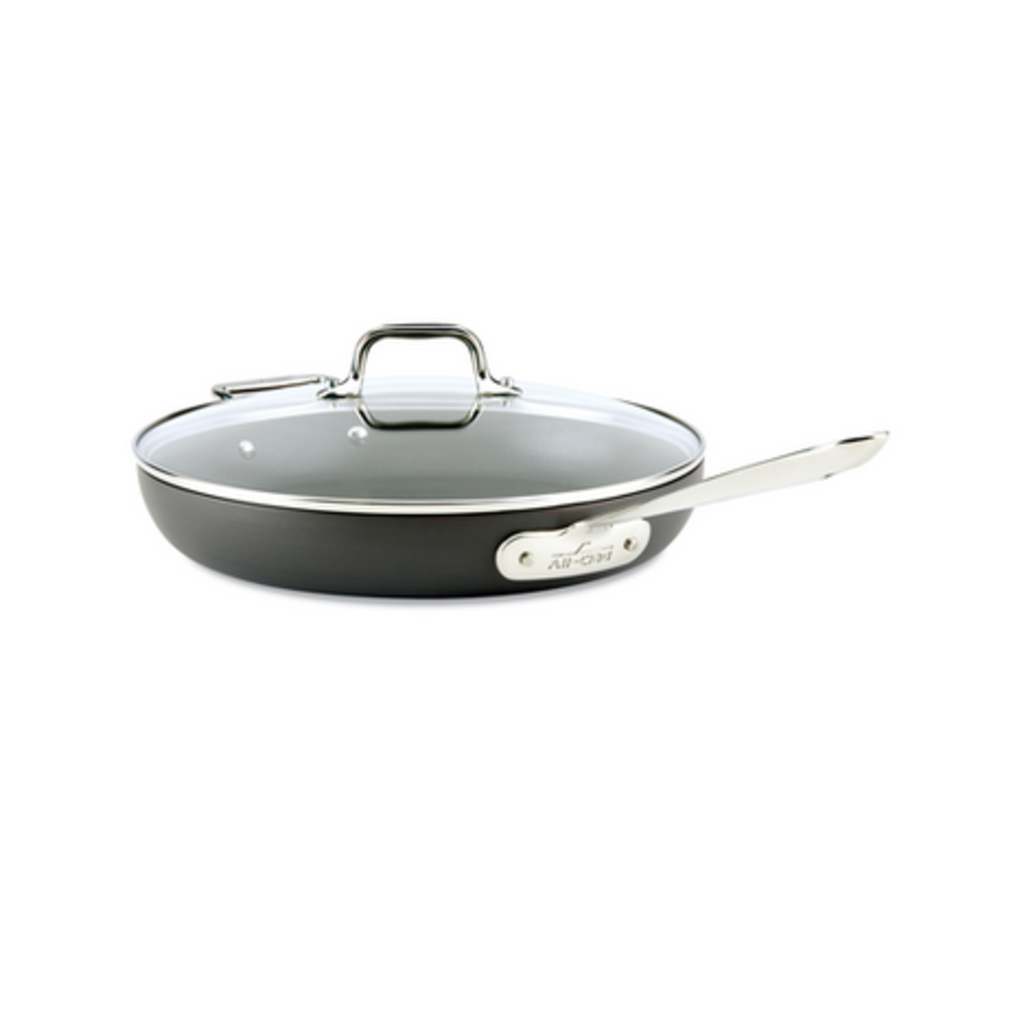 """All-Clad All-Clad 12"""" d3 HA1 Non-Stick Fry Pan with Lid"""
