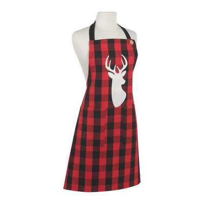 Danica/Now Designs Apron Chef Buffalo Check Deer