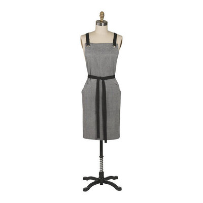 Danica/Now Designs Apron Parker Black Herringbone