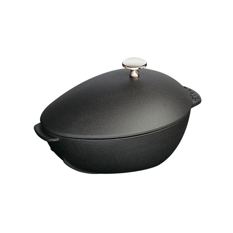 Staub Staub 2L / 2.1-Qt Black Mussel Pot