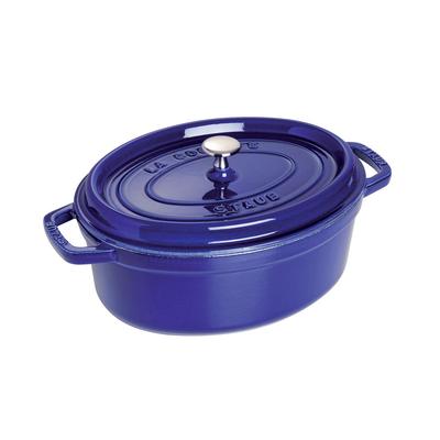 Staub Staub Oval 5.5L / 5.8-Qt Dark Blue Cocotte