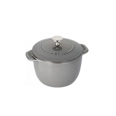 Staub Staub Petite Round 1.7L / 1.9-Qt Grey Cocotte