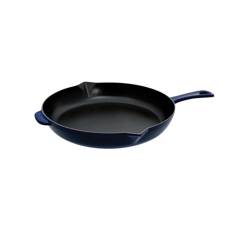 """Staub Staub Round 10"""" Dark Blue Fry Pan"""