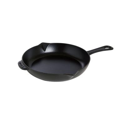 """Staub Staub Round 10"""" Black Fry Pan"""