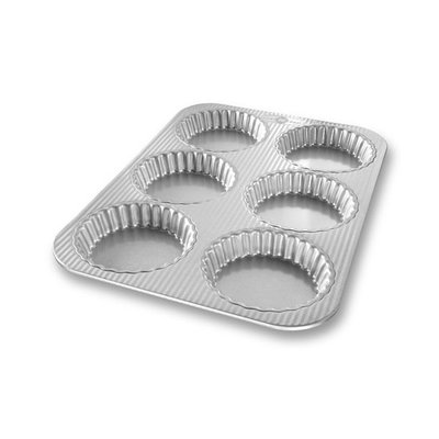 USA Pan Mini Fluted Tart Pan - 6 Well