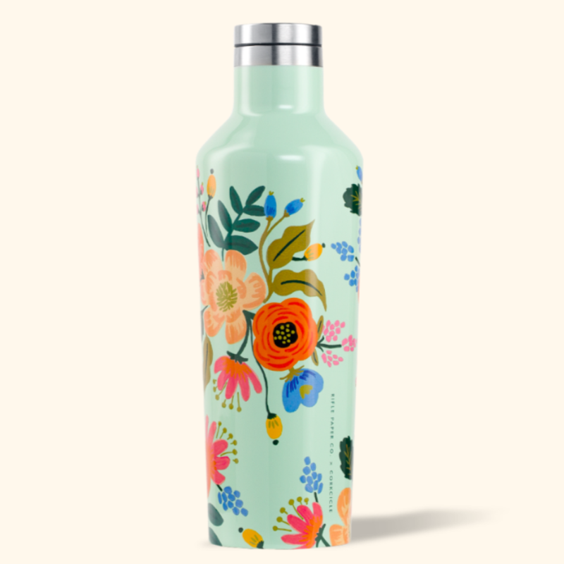 Corkcicle Corkcicle Canteen - 16oz Gloss Mint - Lively Floral Rifle Paper 475ml