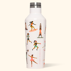 Corkcicle Canteen - 16oz Sports Girls Rifle Paper 475ml