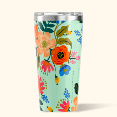 Corkcicle Corkcicle Tumbler- 16oz Gloss Mint - Lively Floral Rifle Paper 475ml