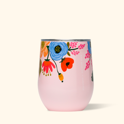 Corkcicle Corkcicle Rifle Stemless - 12oz Lively Floral Blush 355ml