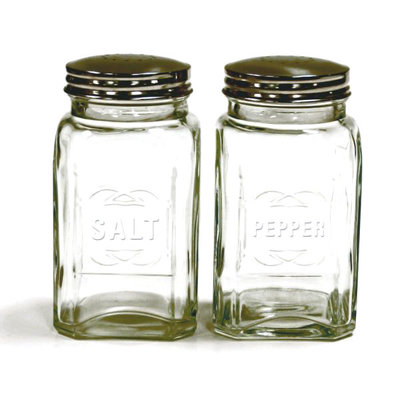 RSVP International Inc Retro Glass Salt Pepper Set