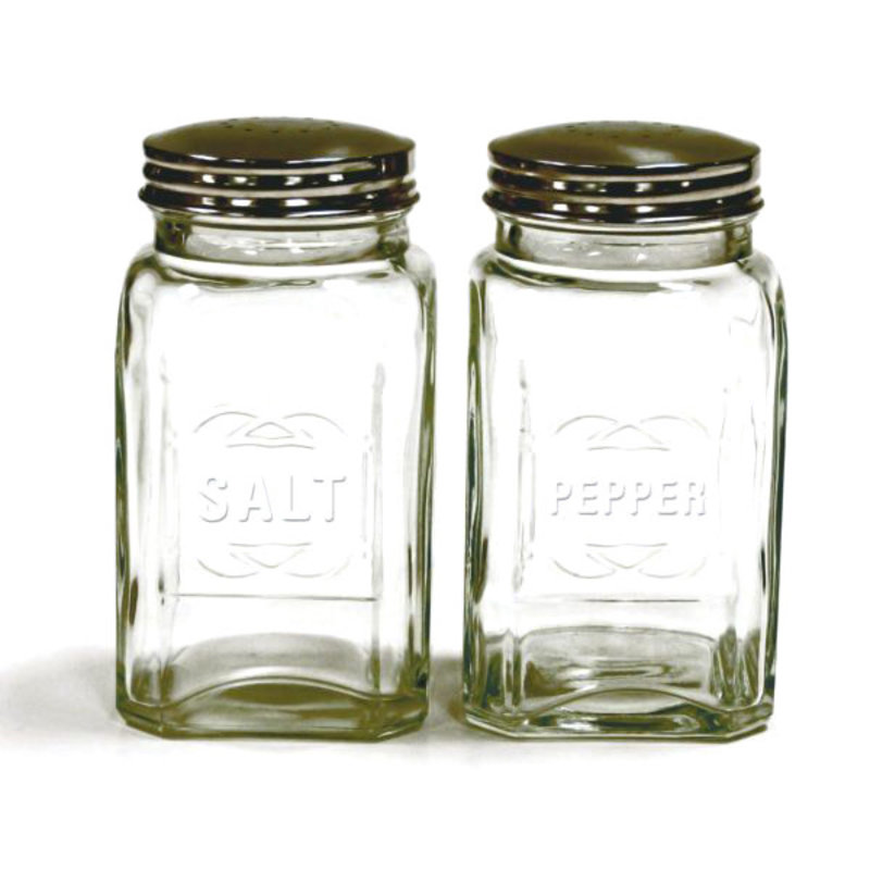 RSVP International Inc Retro Glass Salt Pepper Set