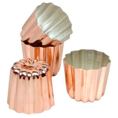 Matfer Bourgeat Copper Cannele Mold 55mm