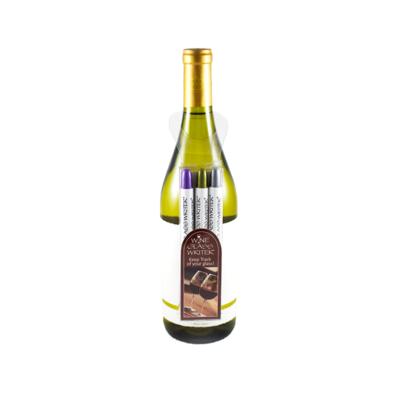 Wine Glass Writer Wine Glass Writer 3pc hang - Gold, Silver, Purple