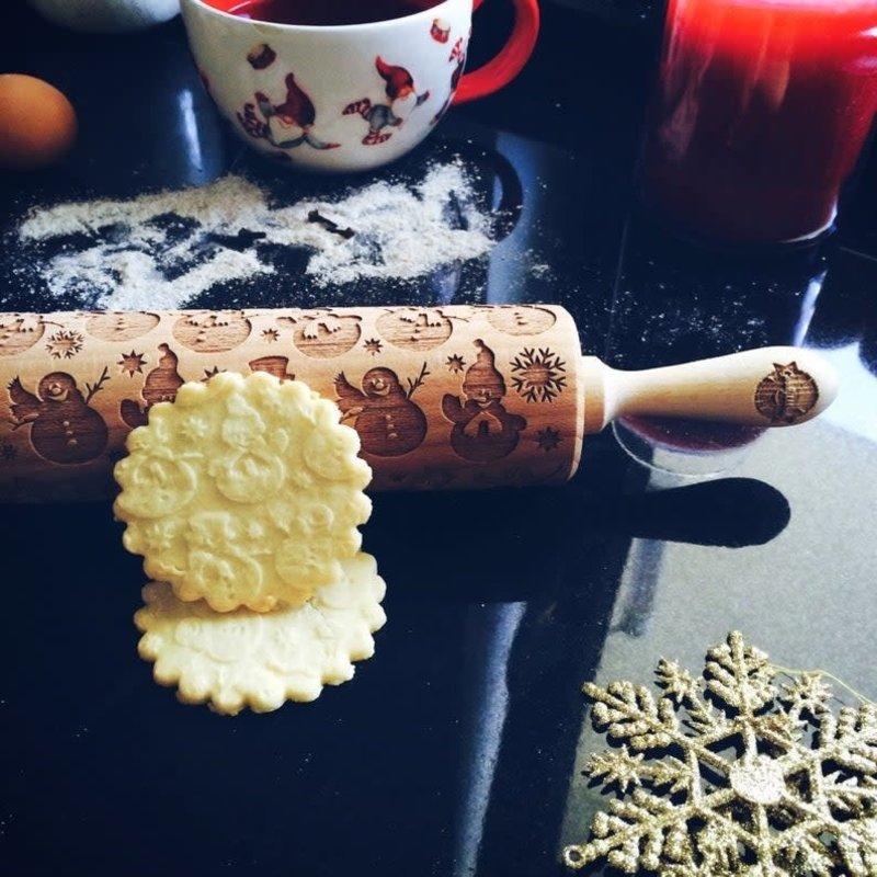 GoodyWoody Embossed Rolling Pin - Snowman
