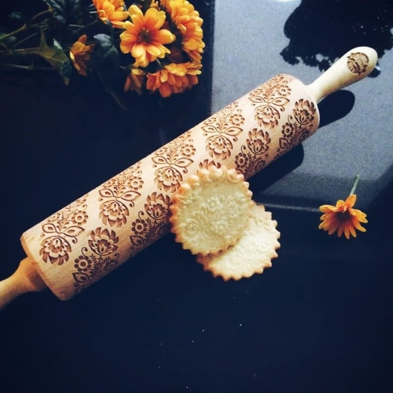 GoodyWoody Embossed Rolling Pin - Bouquet of Flowers