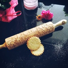 GoodyWoody Embossed Rolling Pin - Garden