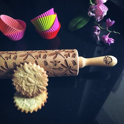 GoodyWoody Embossed Rolling Pin - Insects