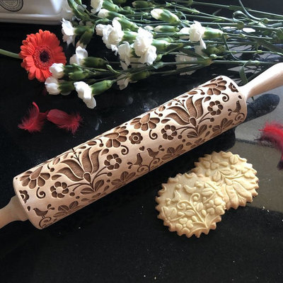GoodyWoody Embossed Rolling Pin - Morning Birds