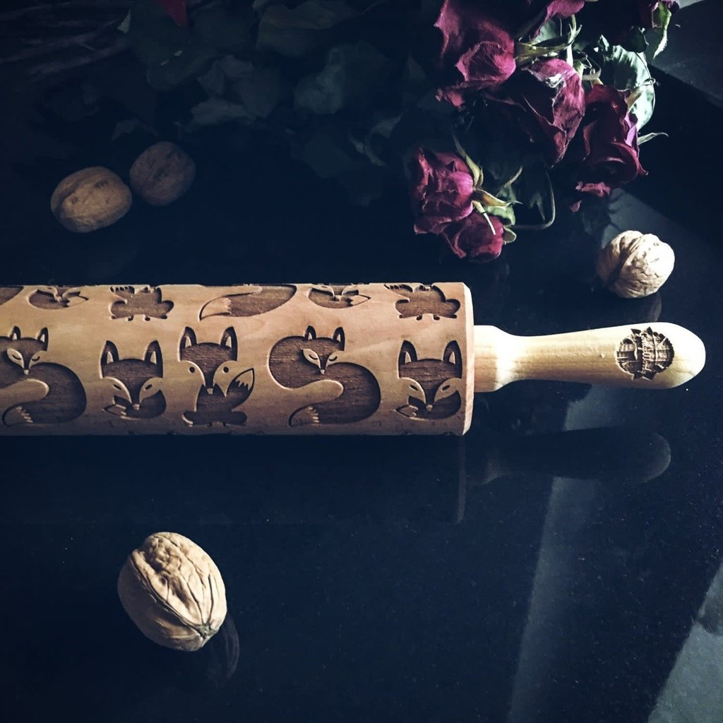GoodyWoody Embossed Rolling Pin - Fox