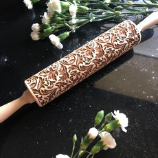 GoodyWoody Embossed Rolling Pin - Forest Design