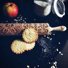 GoodyWoody Embossed Rolling Pin - Folk Design