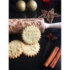 GoodyWoody Embossed Rolling Pin - Santa Claus