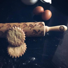 GoodyWoody Embossed Rolling Pin - Alpacas