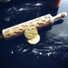 GoodyWoody Embossed Rolling Pin - Bats