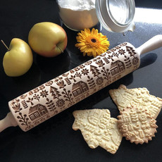GoodyWoody Embossed Rolling Pin - Scandinavian Cottage