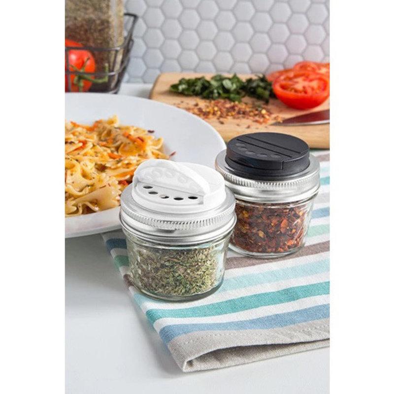 Jarware Jarware Regular Mouth - Spice Jar Lid 2-pack Black/White