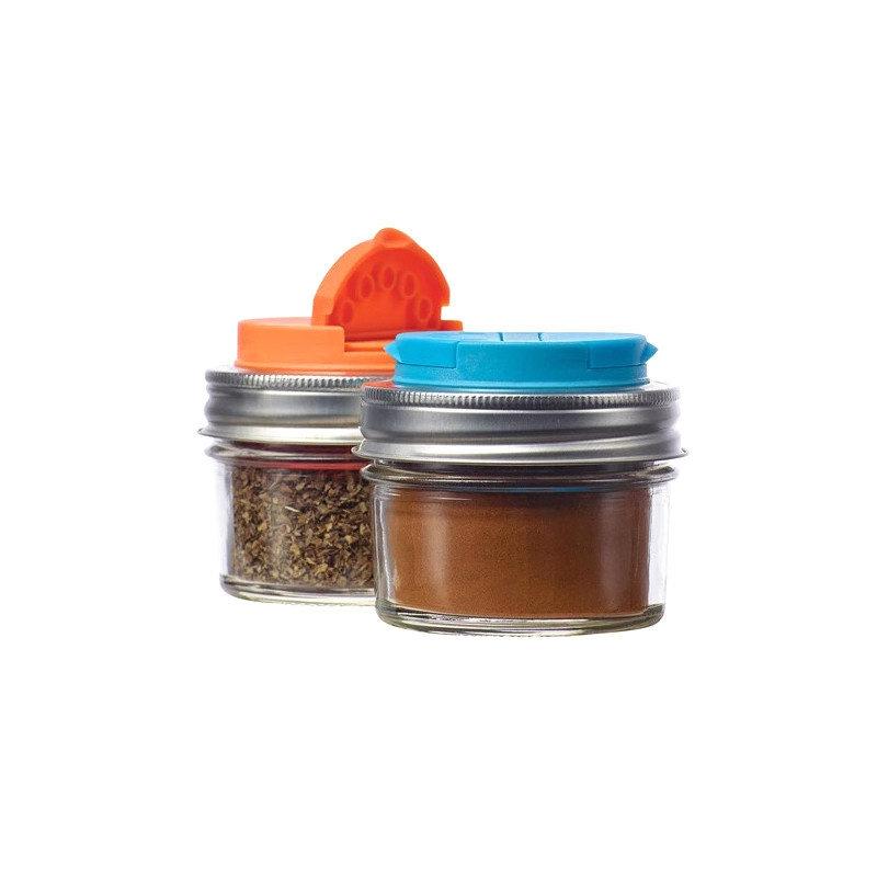 Jarware Jarware Regular Mouth - Spice Jar Lid 2-pack Orange/Blue