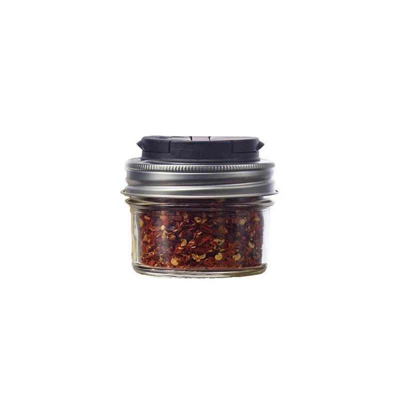Jarware Jarware Regular Mouth - Spice Jar Lid 12-Pack Black