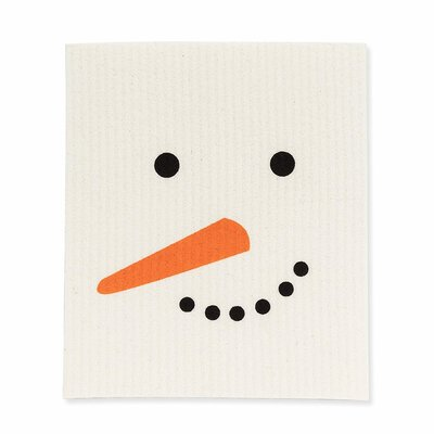 Abbott Snowman Face Swedish Dishcloth