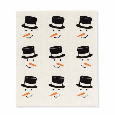 Abbott Snowmen Faces Swedish Dishcloth